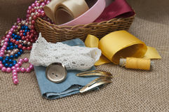 Materials for Handicrafts. Royalty Free Stock Photo