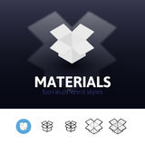 Materials icon in different style Royalty Free Stock Photos