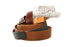 Materials for the manufacture of leather straps. Stock Images