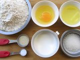 Materials of Milk Bread Royalty Free Stock Photography