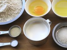 Materials of Milk Bread Stock Photography
