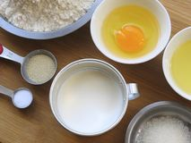 Materials of Milk Bread Stock Images