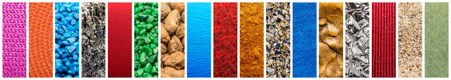Materials Pattern Collage royalty free stock photography