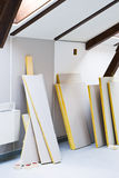 Materials for renovations stock image