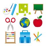 Materials of school Royalty Free Stock Photo
