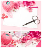 Materials for scrapbooking Stock Images