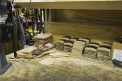 Materials At Shoemaker Workshop Stock Photos