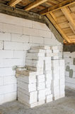 Materials stack new house construction Royalty Free Stock Photo