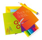 Materials to school Stock Photo