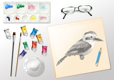 Materials used when painting Royalty Free Stock Photo