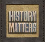 Materias de la historia enmarcadas foto de archivo libre de regalías
