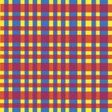 Materias textiles abstractas de la tela de la célula del contexto del modelo del paño del fondo rojas Foto de archivo libre de regalías