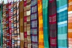 Materias textiles africanas Fotos de archivo libres de regalías