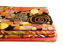 Materias textiles aisladas Imagen de archivo libre de regalías