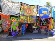 Materias textiles coloreadas Imagenes de archivo