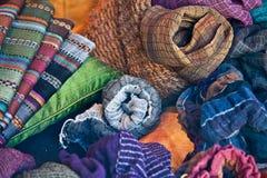Materias textiles coloridas Imágenes de archivo libres de regalías