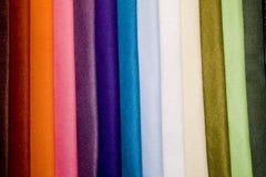 Materias textiles coloridas Foto de archivo libre de regalías
