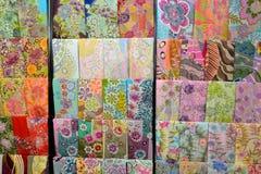 Materias textiles del batik Fotos de archivo libres de regalías