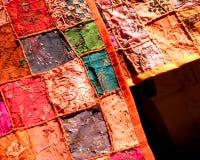 Materias textiles del remiendo Fotos de archivo libres de regalías