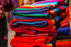 Materias textiles mayas Imagen de archivo libre de regalías