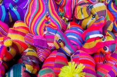 Materias textiles mayas tradicionales Imagen de archivo libre de regalías