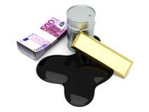 Materias y euros Foto de archivo libre de regalías
