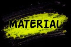 Materieel woord met gloedpoeder stock illustratie