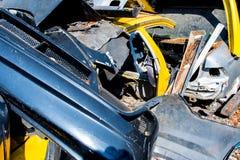 Materiel av gamla delar för skräp av bilen Fotografering för Bildbyråer