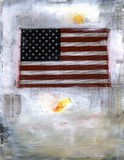 materiel för amerikanska flagganmarknadsrapport vektor illustrationer
