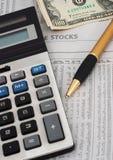 materiel för analysdatafinansmarknad Arkivfoton