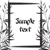 materiel för bamburamillustration svart white Fotografering för Bildbyråer