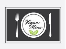 Materiel för lägenhet för illustration för vektor för strikt vegetarianmenydesign grafiskt Arkivbild