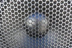 Materiel för metallhögtalaregaller royaltyfri bild