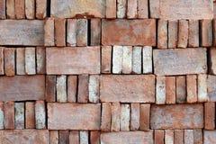Materiel för röd tegelsten för konstruktion Royaltyfri Fotografi