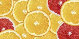 Materiel-foto-frukt-exotisk-sommar-bakgrund-apelsin-och-grapefrukt-överkant-sikt arkivbilder