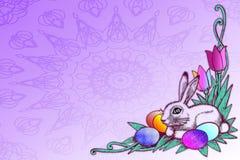 materiel för begreppseaster illustration Royaltyfria Bilder