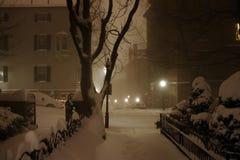 Materielbild av den Boston vintern royaltyfri fotografi