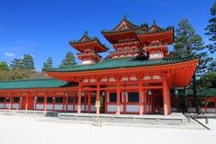 Materielbild av den Heian relikskrin, Kyoto, Japan arkivbilder