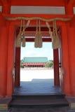 Materielbild av den Heian relikskrin, Kyoto, Japan royaltyfri foto