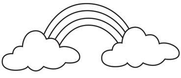 Materielbild: Regnbåge stock illustrationer