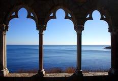 Materielbilden av den Hammond slotten lokaliseras på kusten av Massachusetts, USA Royaltyfria Bilder