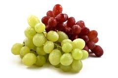 Materielbilder för röda och vita druvor Arkivfoton