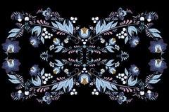 Materielblommor och bladprydnad orientalisk eller rysspatt Royaltyfri Foto