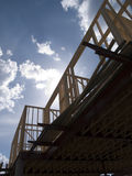 Materielfoto av wood rambostadsbyggande Arkivfoton