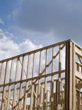 Materielfoto av wood rambostadsbyggande Royaltyfria Foton