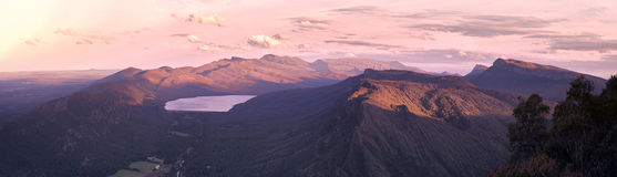 Materielfoto - Boroka utkik, Grampians nationalpark, Australien Arkivfoton