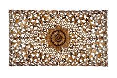 Materielfoto - guld- barock som isoleras på vit bakgrund royaltyfri fotografi