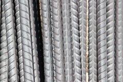 Materielfoto - konstnärliga stålstänger closeup, förstärkning på konstruktionsplats, royaltyfri bild