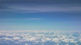 Materielfoto - moln på den blåa himlen Fotografering för Bildbyråer