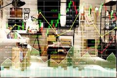 Materielindex som är finansiellt av hushållegenskapsaffär Arkivfoto